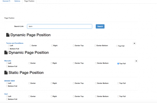 Dynamic Page Position