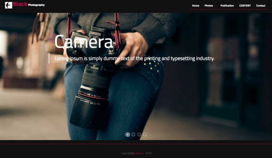 Black Photography Theme